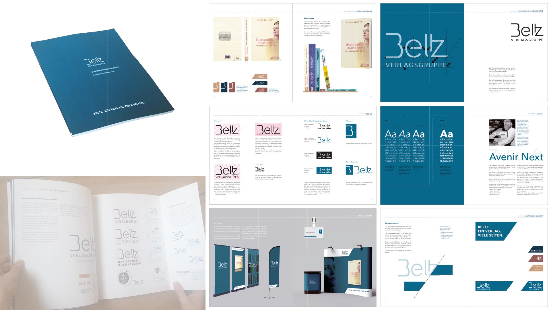 Übersicht Corporate Design Handbuch Verlagsgruppe Beltz